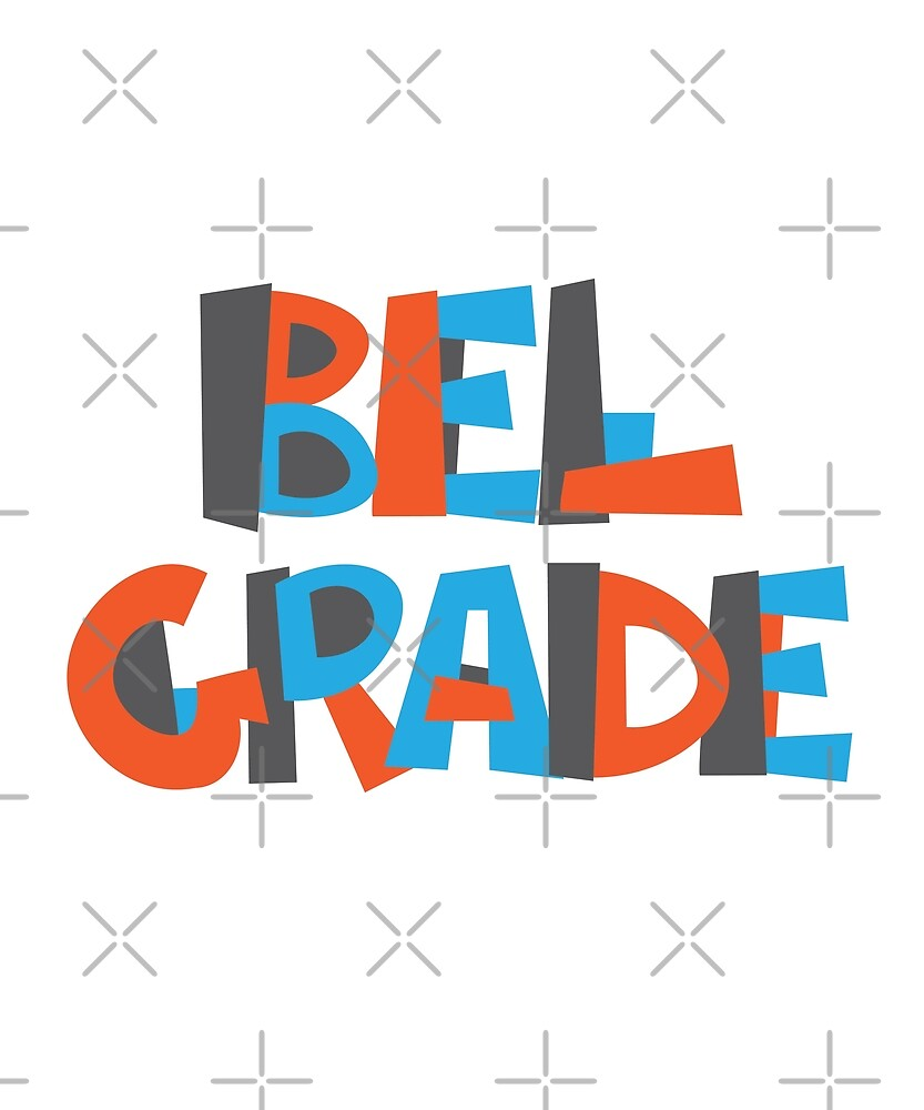 Belgrade Hand Drawn Text T-Shirt by designkitsch