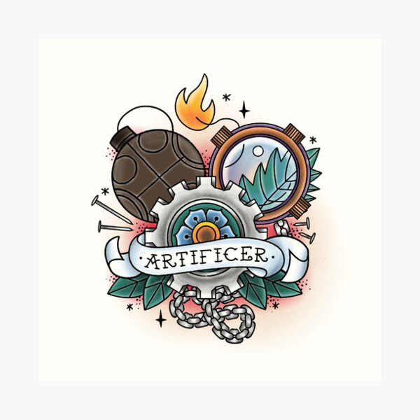 Artificer - Vintage D&D Tattoo Art Print