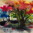 Rote Blätter von Marianna Tankelevich