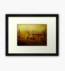 Flags and Buckets Framed Print