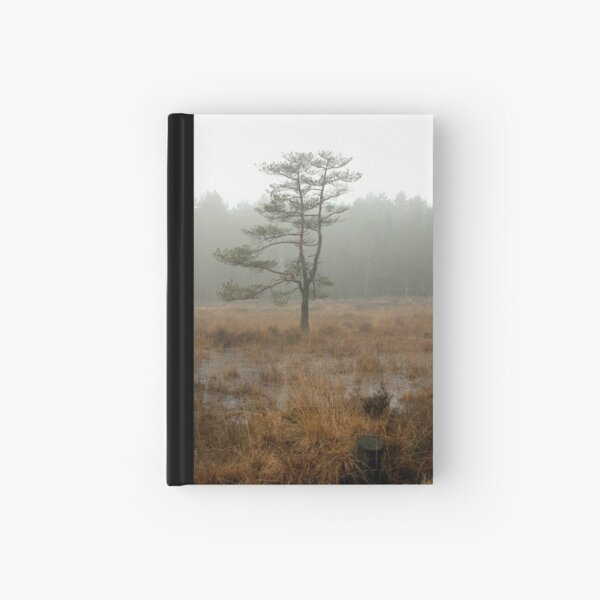 Silent tree in misty land Hardcover Journal