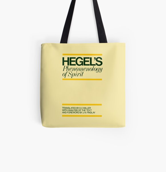 The Phenomenology of Spirit Hegel Book Cover All Over Print Tote Bag
