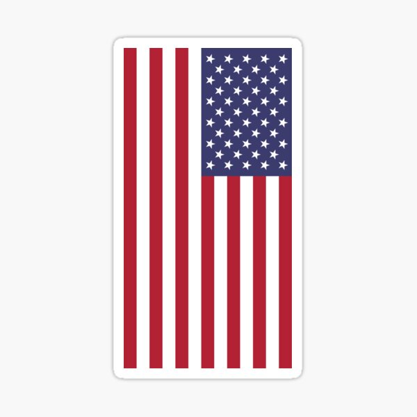 USA - American Flag - Cell Phone Cover Sticker