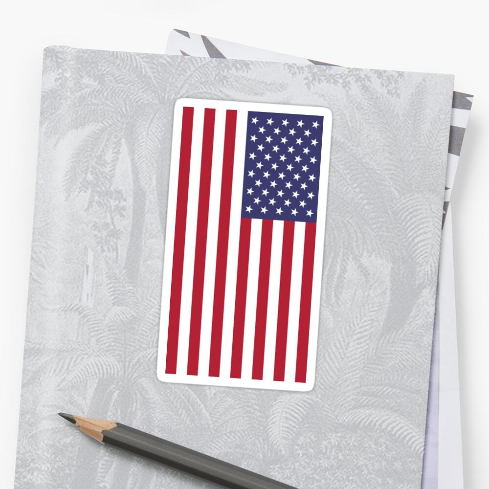 PegatinaUSA - bandera americana - cubierta del teléfono celular Delante