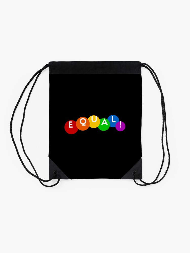 Alternate view of EQUAL rainbow Drawstring Bag