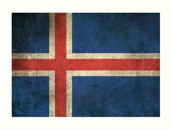 Old and Worn Distressed Vintage Flag of Iceland by jeff bartels