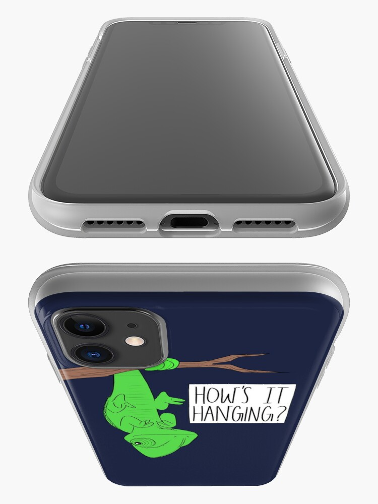 Alternate view of CUTE CHAMELEON-How's It Hanging? iPhone Case & Cover