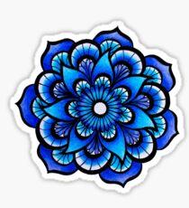 Mandala bleu Sticker