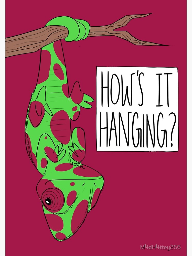CUTE CHAMELEON - How's It Hanging (Red Spotted)  by M4dH4ttey266
