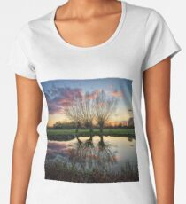 Autumn on the River Stour Premium Scoop T-Shirt