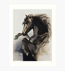 """""""Black Fury"""" Painting in Oils Art Print"""