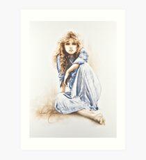 """Hippy Girl"" Painting in Oils Art Print"