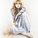 """""""Hippy Girl"""" Painting in Oils by Sara Moon"""