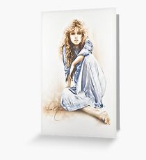 """Hippy Girl"" Painting in Oils Greeting Card"