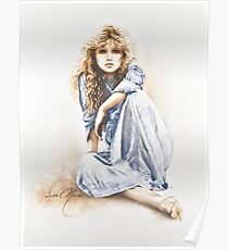 """Hippy Girl"" Painting in Oils Poster"