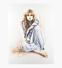 """Lámina fotográfica Pintura """"chica hippie"""" en los aceites"""