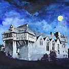Stokesay Castle by Moonlight by Mike Paget