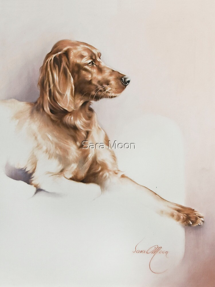 """Red Setter"" Panting in Oils by Sara Moon"
