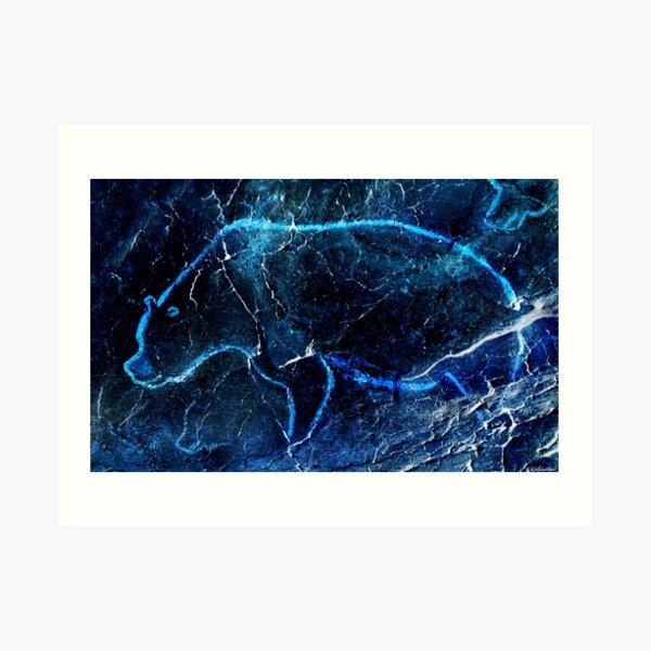 Chauvet Cave Bear 3 - Negative Art Print