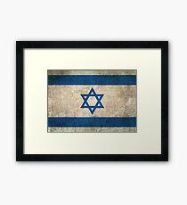 Old and Worn Distressed Vintage Flag of Israel Framed Print