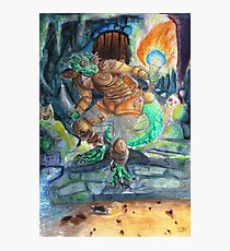 Elder Scrolls Oblivion: Argonian in the Cave Photographic Print