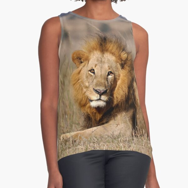 male lion portrait  Sleeveless Top