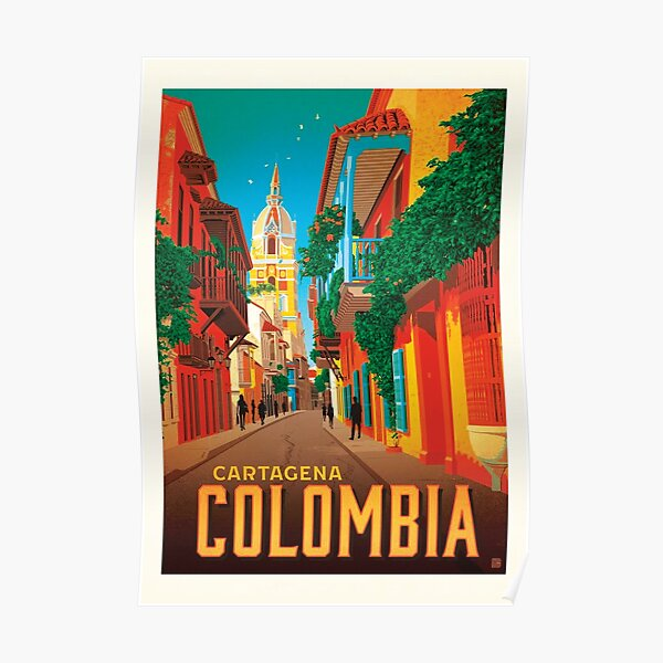 Colombia Cartagena Poster