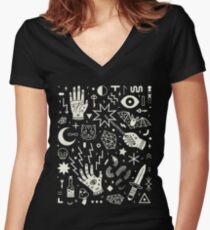 Witchcraft Women's Fitted V-Neck T-Shirt