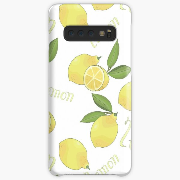 seamless pattern with tasty ripe lemons green leaves and lettering Samsung Galaxy Snap Case