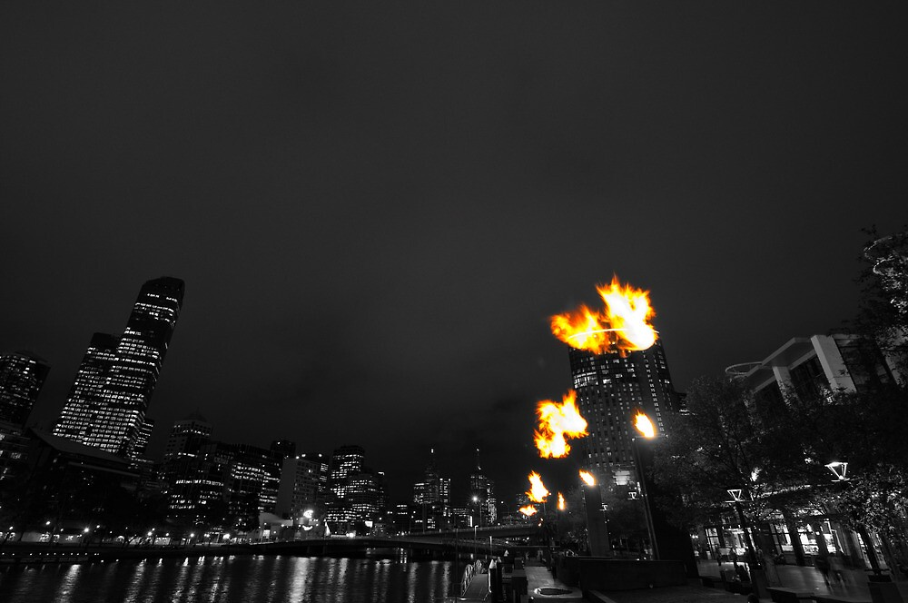 Black and White Fire by wolfcat