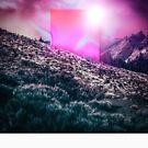 Vaporwave Monolith Birth by Chris Egon Searle