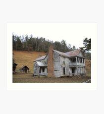 Civil War era house Art Print