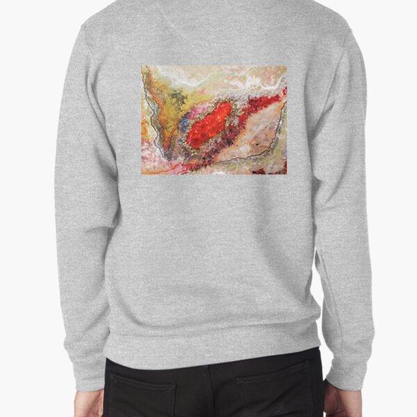 Red Geode Pullover Sweatshirt