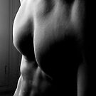 black & white torso by linelight
