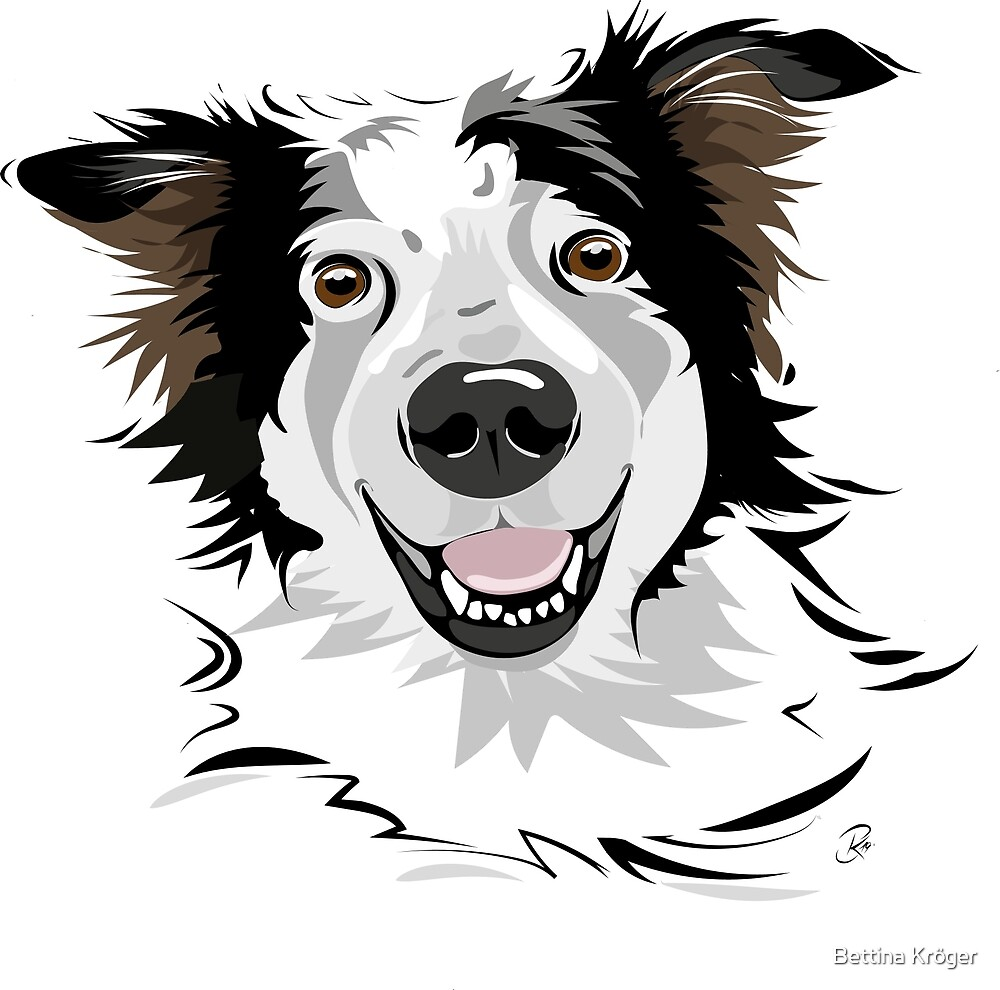 Willi - happy street dog mix by Bettina Kröger