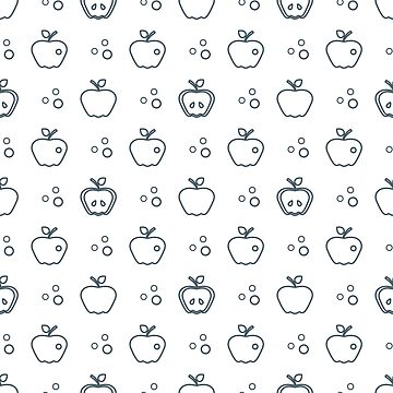 Seamless pattern with apples. Fruit background. by aquamarine-p