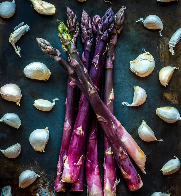 Making a fuss with Asparagus. by alan shapiro