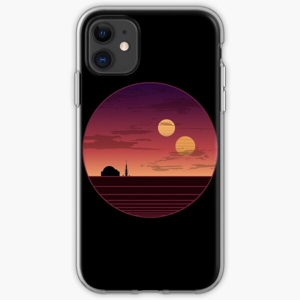 The Binary Sunset iPhone Soft Case