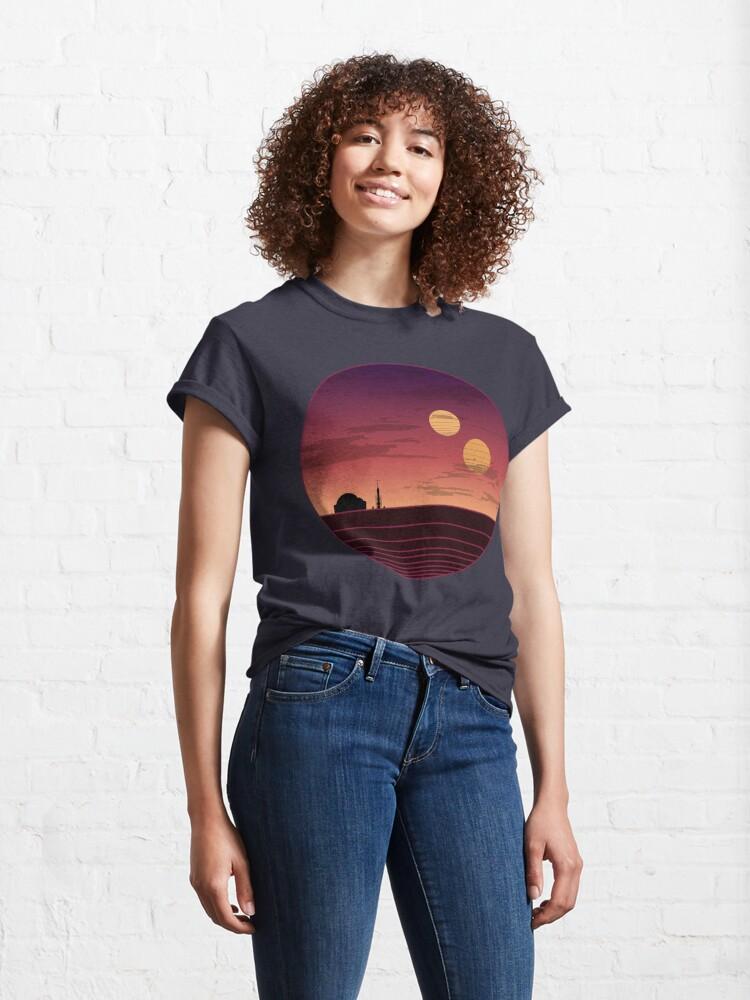 Alternate view of The Binary Sunset Classic T-Shirt