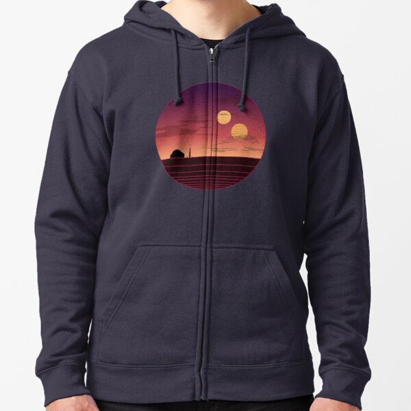 The Binary Sunset Zipped Hoodie