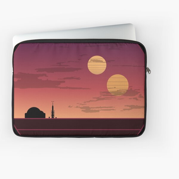 The Binary Sunset Laptop Sleeve