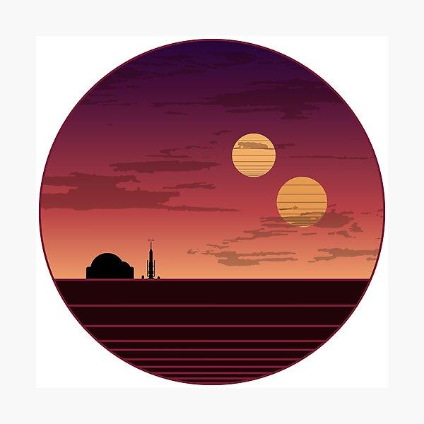 The Binary Sunset Photographic Print