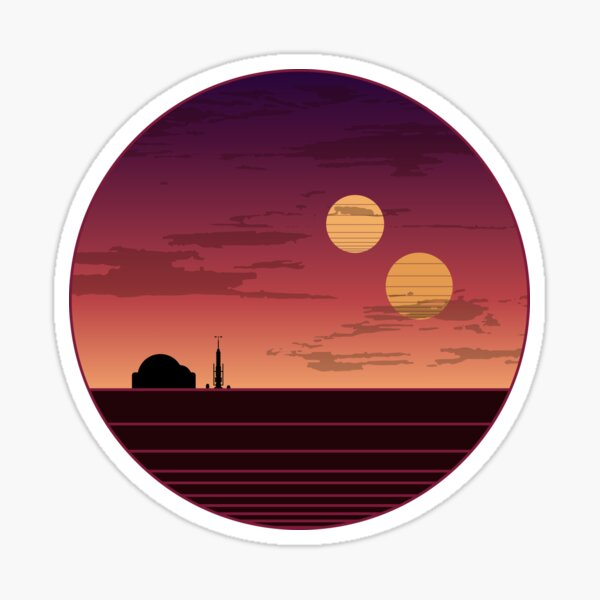 The Binary Sunset Sticker
