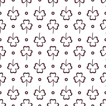 Seamless pattern. Clover leaves. St. Patrick's Day by aquamarine-p