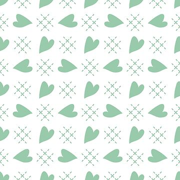 Seamless pattern with hearts. Valentine's Day by aquamarine-p