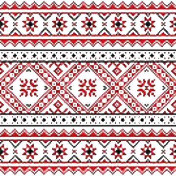 pattern, decoration, embroidery, textile, ornate, craft, tapestry, art, flower, slavic, abstract by znamenski