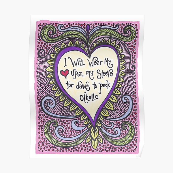 I Will Wear My Heart Poster