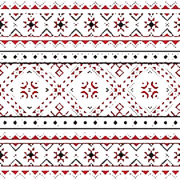 pattern, decoration, embroidery, textile, ornate, craft, tapestry, art, flower, slavic, abstract, seamless pattern, geometric shape by znamenski
