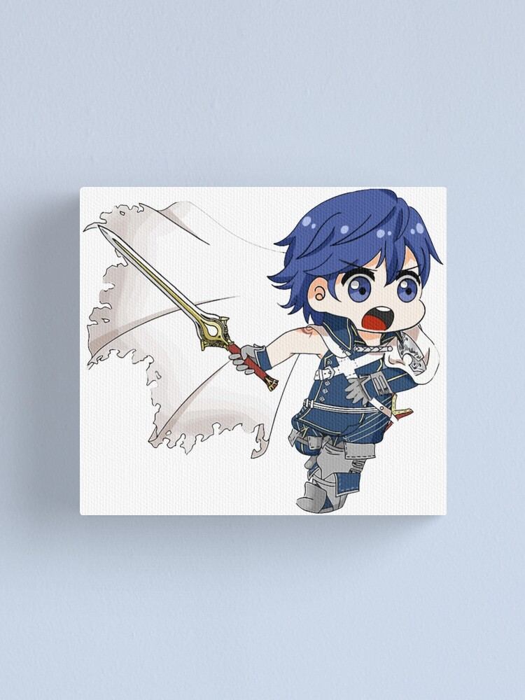 Boy Knight With A Sword Anime Tee Canvas Print By Eufritz Redbubble