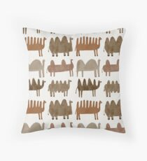 Funny camels Throw Pillow